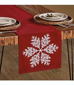 Camino de mesa de algodón Bee & Willow™ con diseño de copo de nieve de 1.82 m