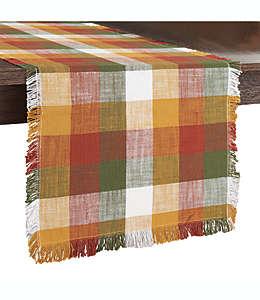 Camino de mesa de algodón con diseño a cuadros de 2.28 m