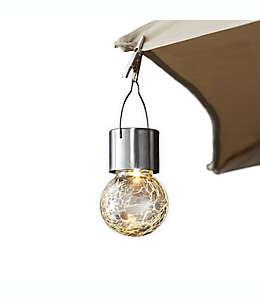 Lámpara para sombrilla de vidrio craquelado en acero inoxidable