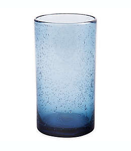 Vaso alto de vidrio Bee & Willow™ Home Milbrook con burbujas color azul