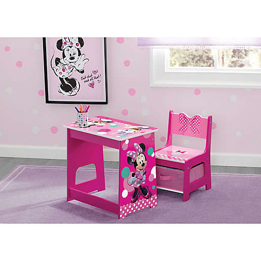 Minnie Mouse Kids Wood Desk And Chair, Minnie Mouse Furniture