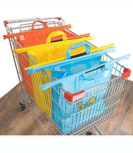 Bolsas reusables para carrito de compras de lona Cart Daddy varios colores, Set de 3