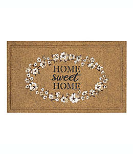 Tapete para entrada de poliéster Mohawk Home® Home Sweet Home, 45.72 x 76.2 cm color café bronceado/blanco