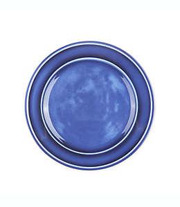Plato trinche de melamina Bee & Willow™ Home con acabado esmaltado color azul