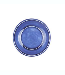 Plato para ensalada de melamina Bee & Willow™ Home con acabado esmaltado color azul
