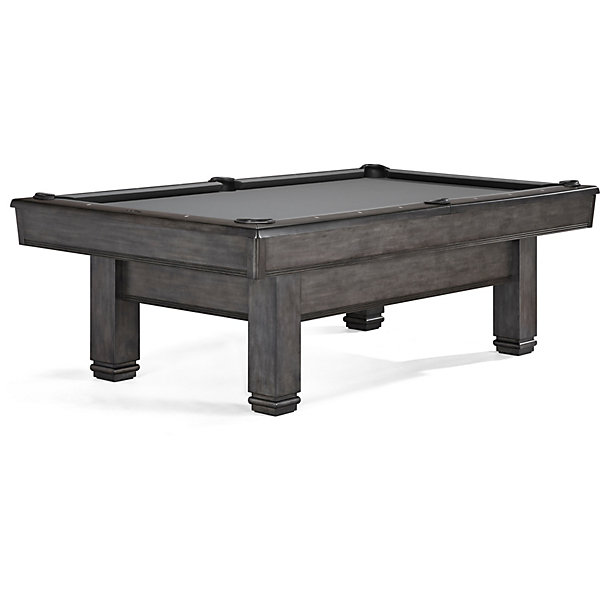 Bridgeport Transitional Pool Table In Graphite Finish - Brunswick bridgeport pool table