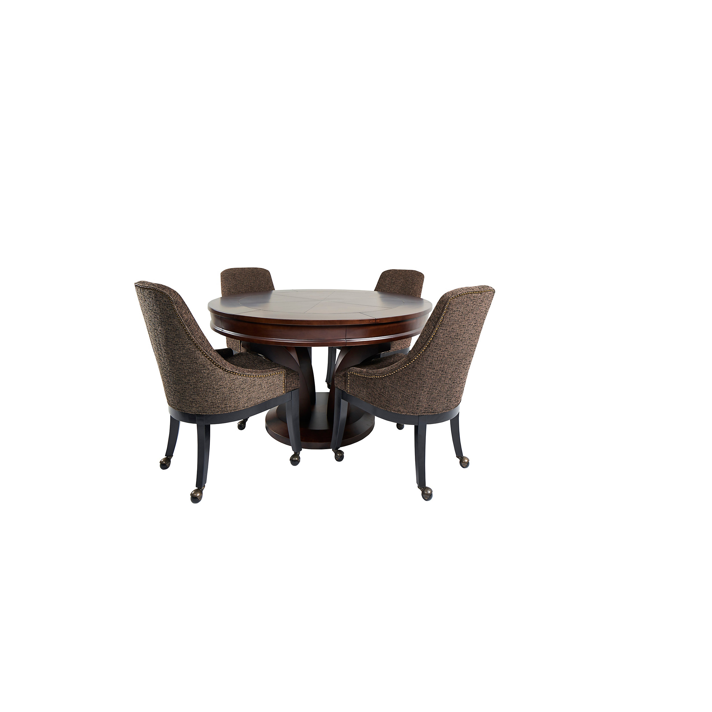 Round Game Table With Chairs, Round Gaming Table With Chairs