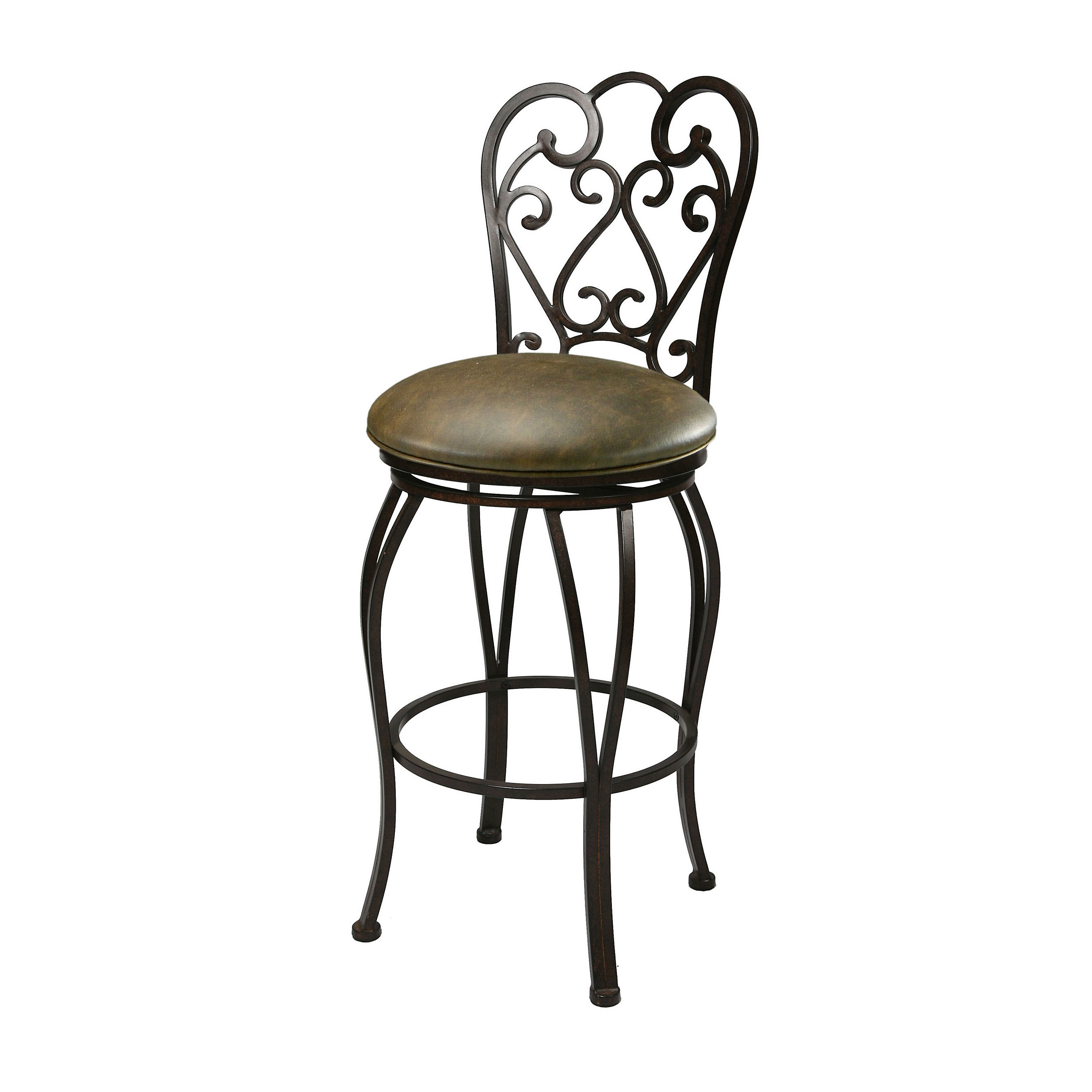 Rod Iron Leather Bar Stools