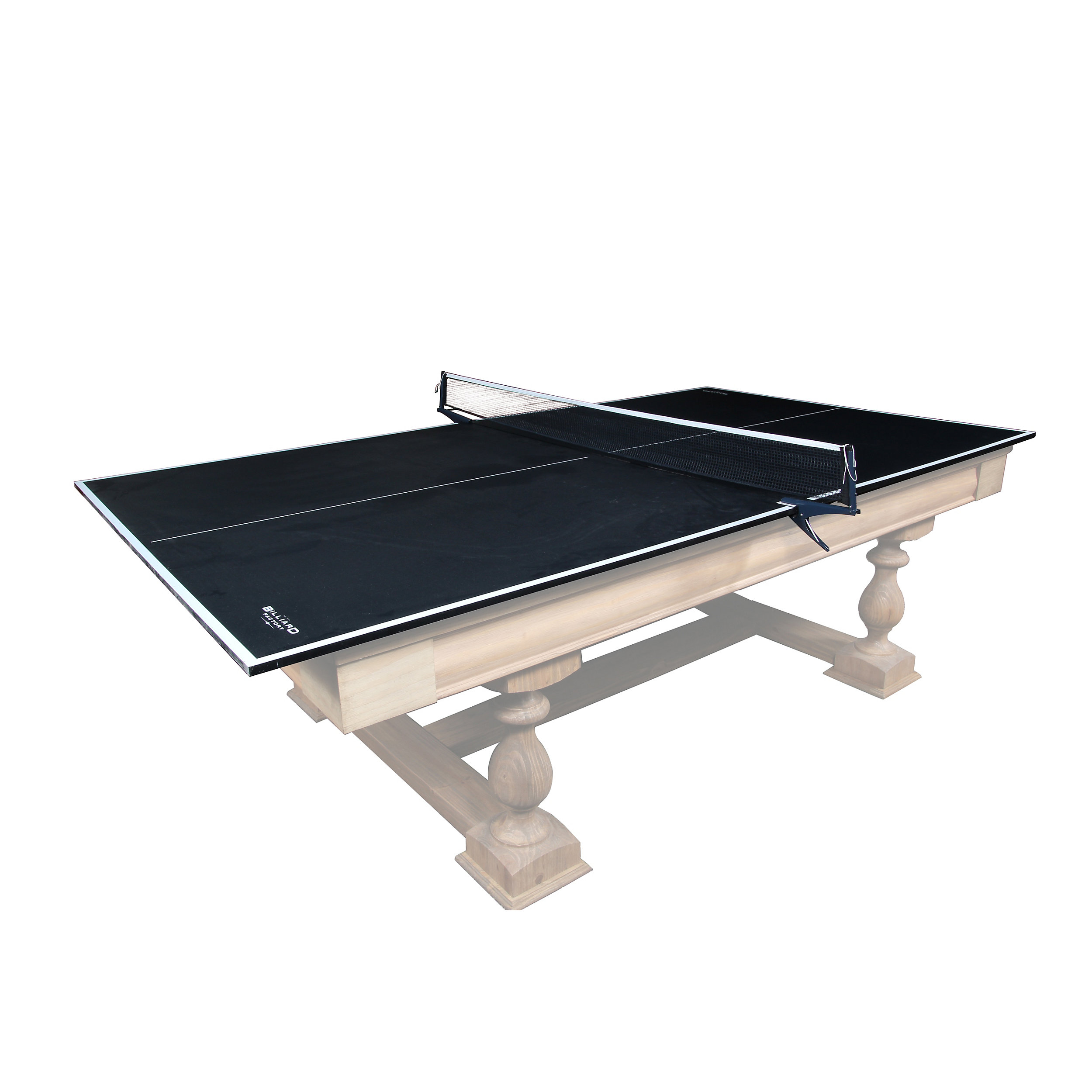 Table Tennis Conversion Top Ping Pong Conversion Top - Black top pool table