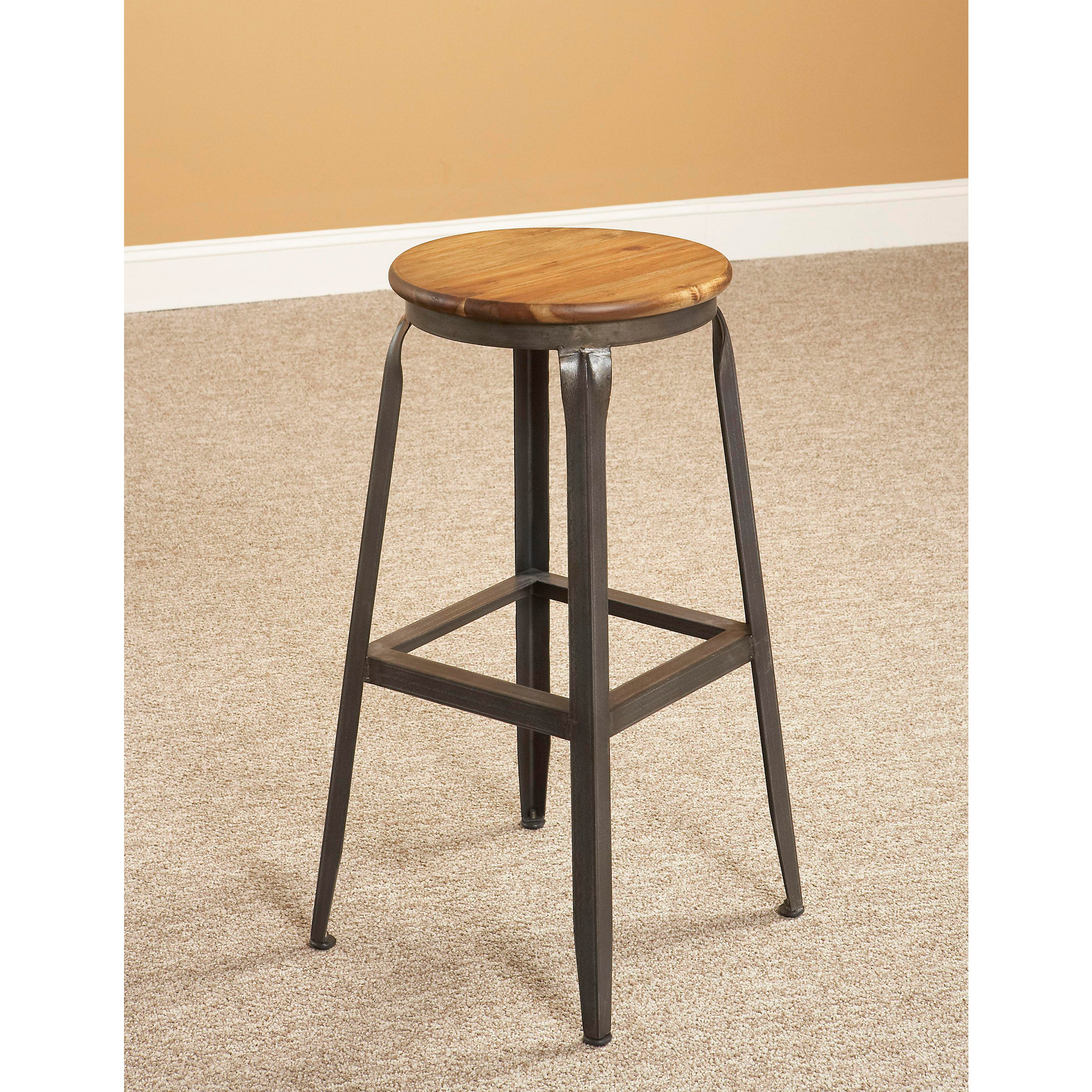 Wood and iron bar stools wood and metal bar stools