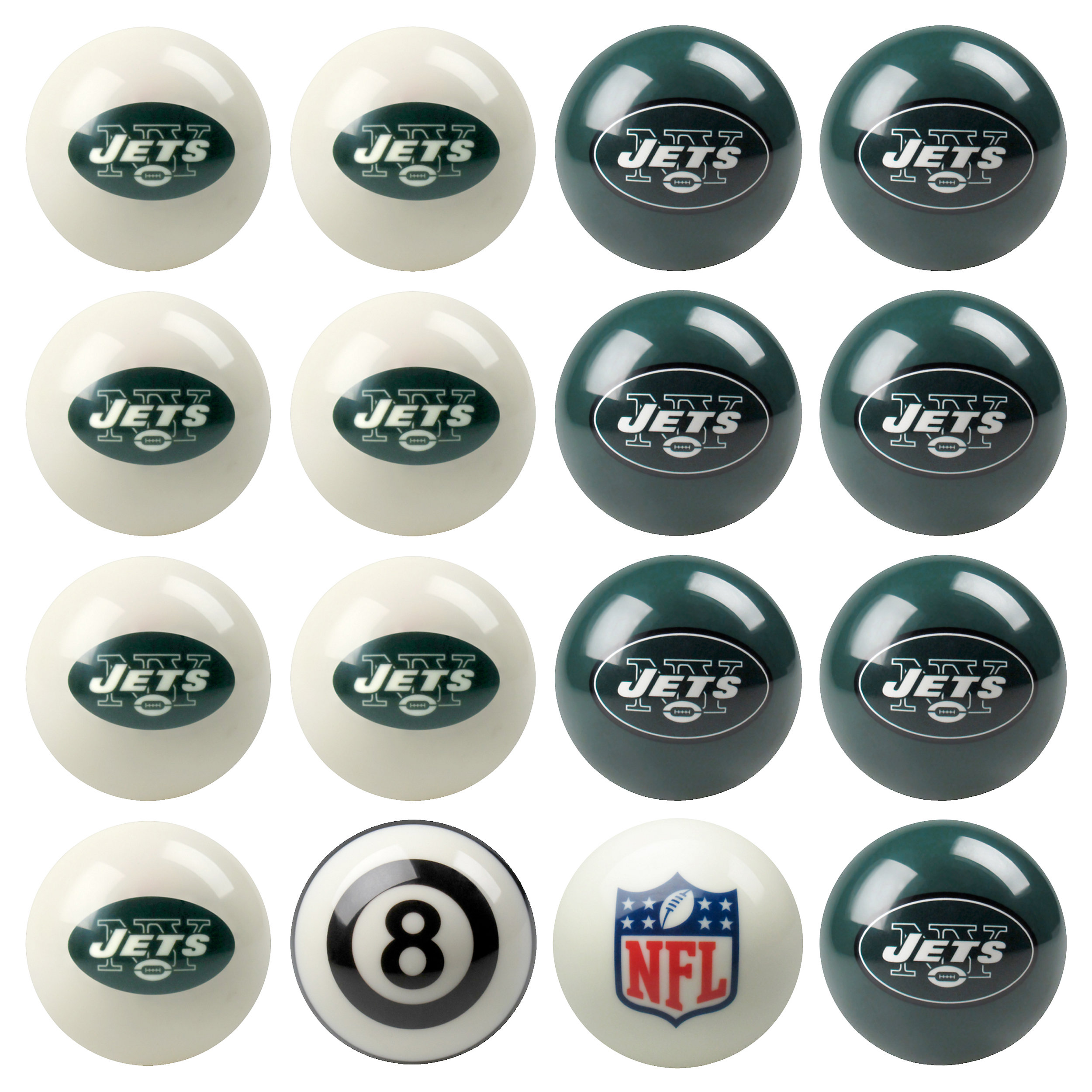 New York Jets Pool Ball Set