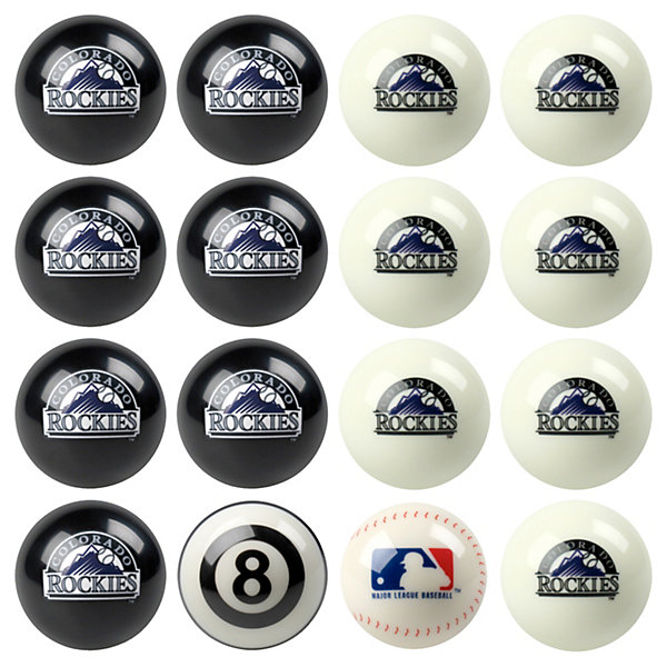 Colorado Rockies Pool Ball Set