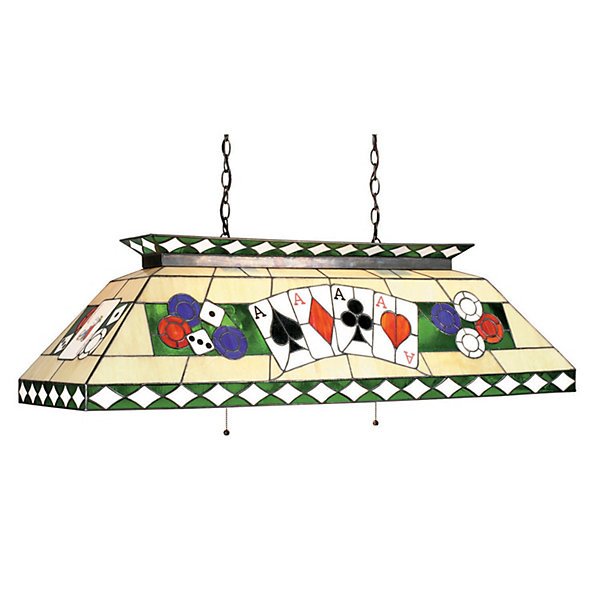 Stained Glass Billiard Light: Stained Glass Billiard Light Fixture