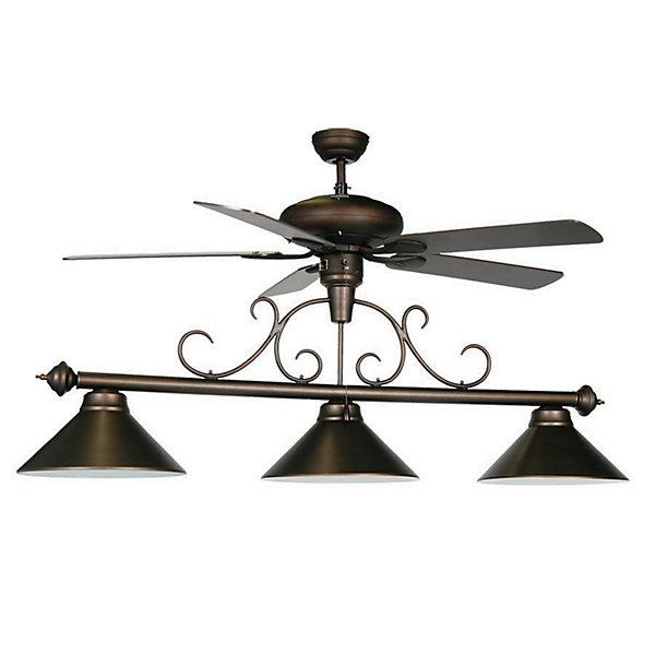 Billiard Light With Ceiling Fan