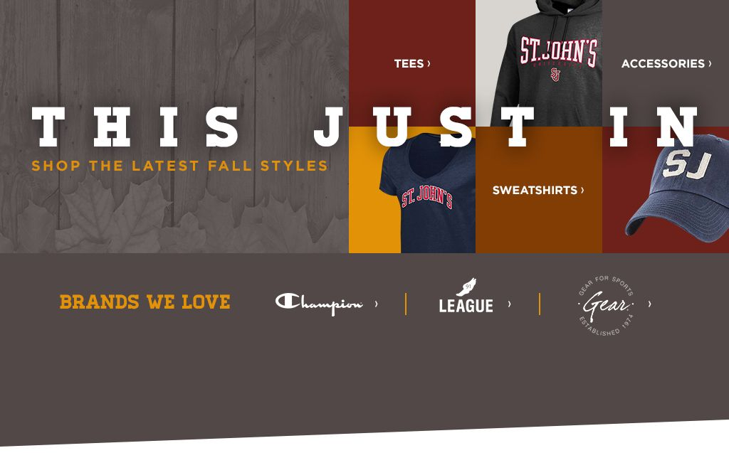 St johns university queens campus bookstore apparel merchandise shop the latest fall styles fandeluxe Gallery