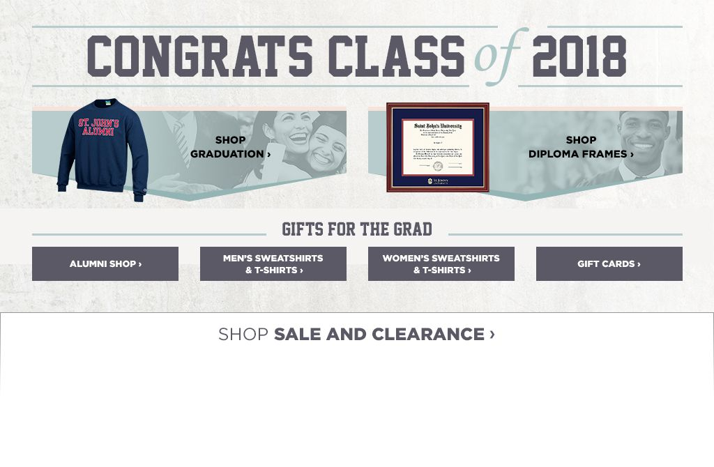 St johns university queens campus bookstore apparel merchandise congrats class of 2018 fandeluxe Gallery
