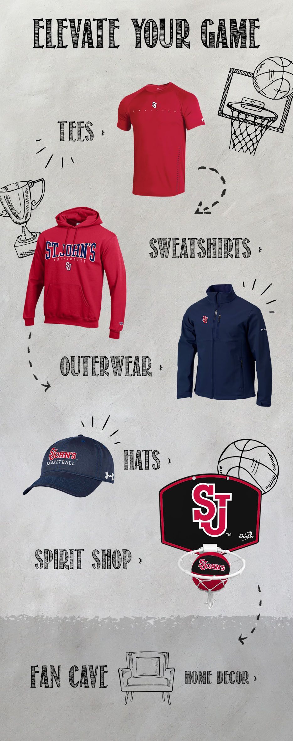 St Johns University Queens Campus Bookstore Apparel Merchandise