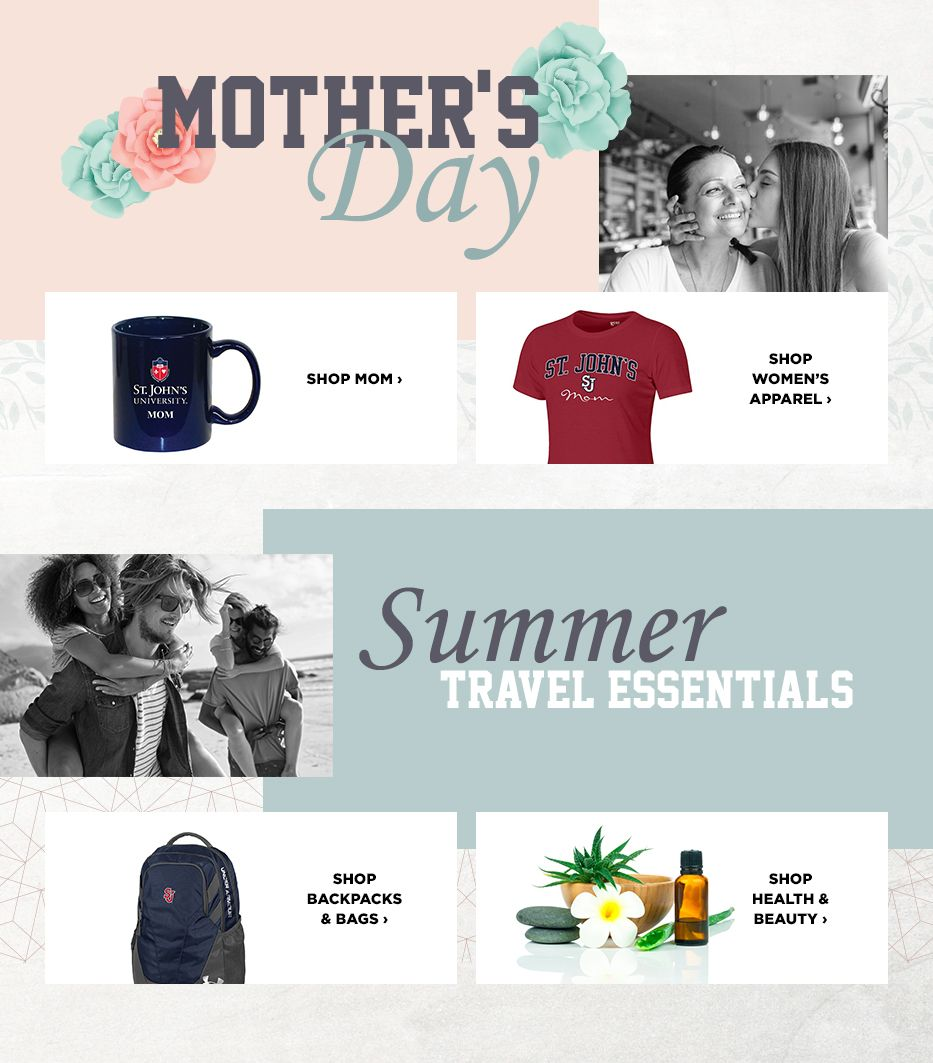 St johns university queens campus bookstore apparel merchandise mothers day gift ideas travel essentials fandeluxe Gallery