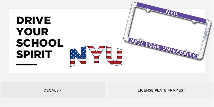 dbf25c0f740 New York University License Plate Frames