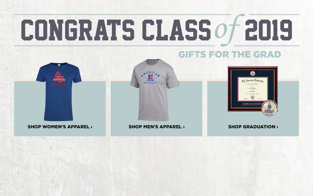 40d844458f49 American University Campus Store. Congrats Class of 2019. Gifts for the  Grad.