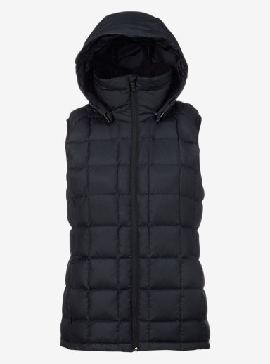 Burton [ak] Squall Down Vest shown in Black Heather