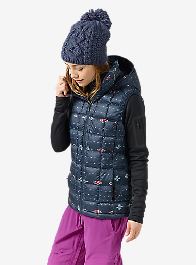 Burton [ak] Squall Down Vest shown in Floral Ikat Stripe