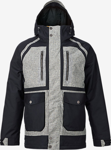 Burton Hellbrook Jacket shown in True Black / Railroad