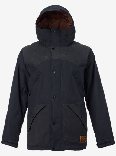 Burton Folsom Jacket shown in True Black Wax / True Black