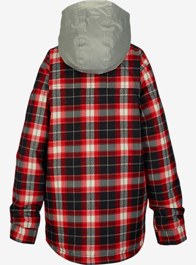Burton Boys' Uproar Jacket shown in True Black Miked Plaid