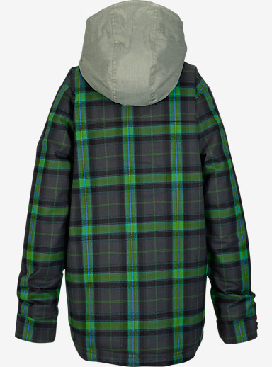 Burton Boys' Uproar Jacket shown in Faded Miked Plaid