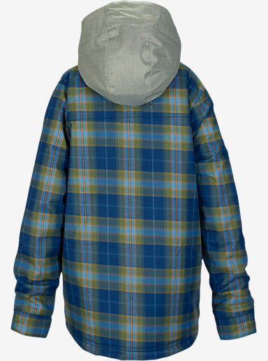 Burton Boys' Uproar Jacket shown in Boro Miked Plaid