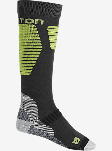Burton Ultralight Wool Snowboard Sock shown in True Black