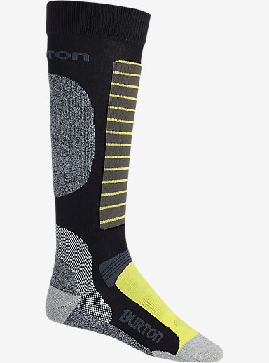 Burton Merino Phase Snowboard Sock shown in True Black