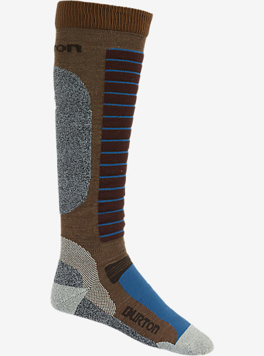 Burton Merino Phase Snowboard Sock shown in Beaver Tail