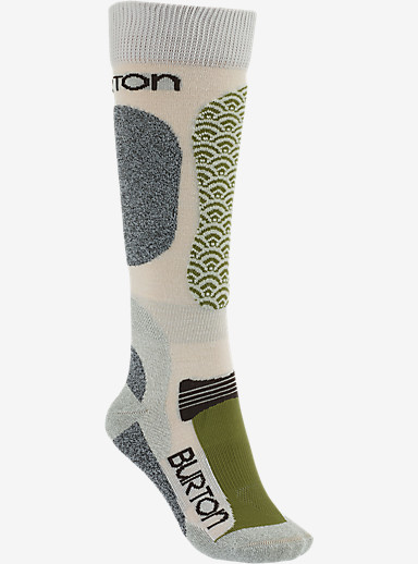 Burton Women's Merino Phase Snowboard Sock shown in Canvas
