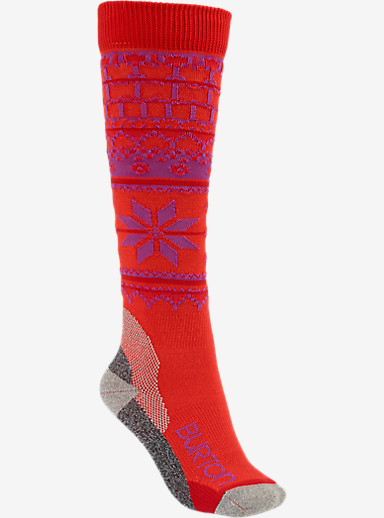 Burton Women's Ultralight Wool Snowboard Sock shown in Tropic