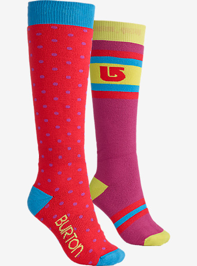 Burton Women's Weekend Snowboard Sock Two-Pack shown in Tropic