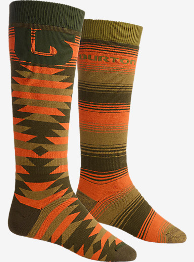 Burton Weekend Snowboard Sock Two-Pack shown in Keef