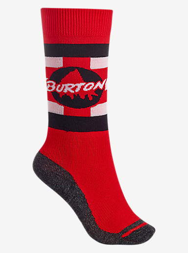 Burton Boys' Emblem Sock shown in Process Red