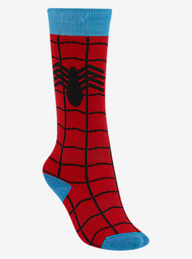 Marvel® x Burton Youth Party Snowboard Sock shown in Spider-Man [TM & © 2015 Marvel & Subs.]