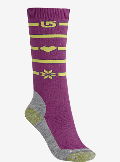 Burton Girls' Scout Snowboard Sock shown in Grapeseed