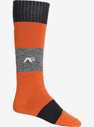 Analog Rancid Snowboard Sock shown in Safety Orange