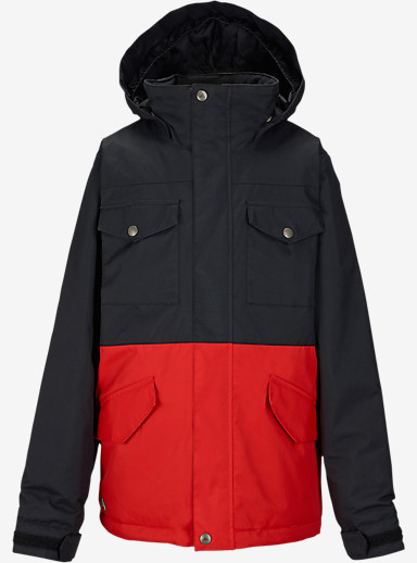 Burton Boys' Fray Jacket shown in True Black / Burner [bluesign® Approved]