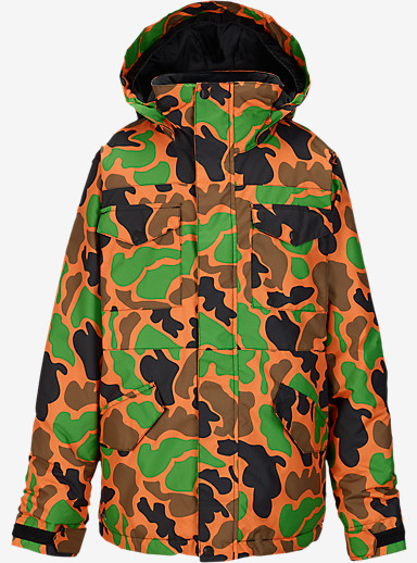 Burton Boys' Fray Jacket shown in Safety Duck Hunter Camo