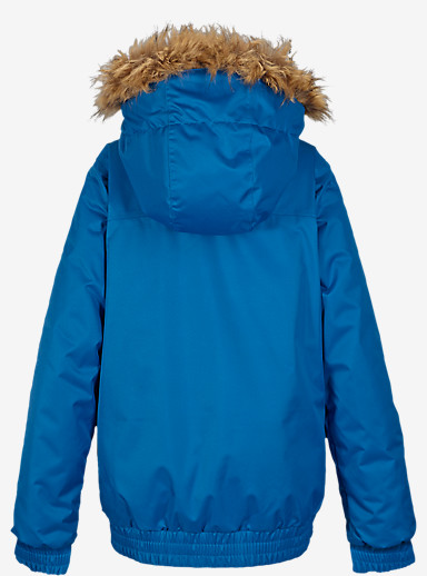 Burton Girls' Twist Bomber Jacket shown in Heron Blue [bluesign® Approved]