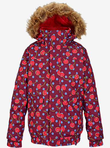 Burton Girls' Twist Bomber Jacket shown in Sangria Tutti Frutti