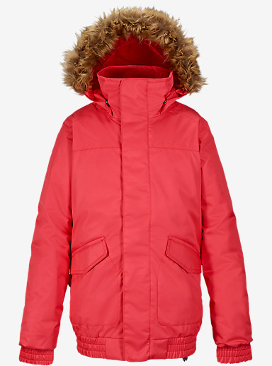 Burton Girls' Twist Bomber Jacket shown in Tropic [bluesign® Approved]