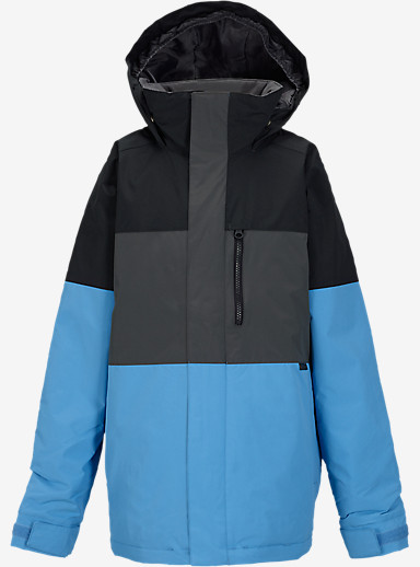 Burton Boys' Symbol Jacket shown in True Black Block [bluesign® Approved]