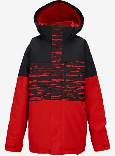 Burton Boys' Symbol Jacket shown in Burner Sloppy Stripe Block [bluesign® Approved]