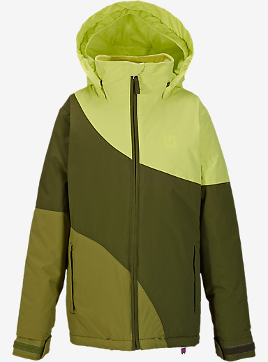 Burton Girls' Hart Jacket shown in Sunny Lime Block [bluesign® Approved]